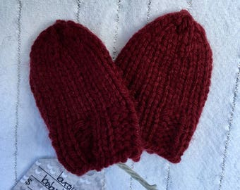 Hand-Knit Baby Mitts