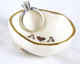 CUSTOM VALENTINE GIFT personalized ring holder gift for her gift for him gift for bride engagement gift stocking stuffer bridal shower gift