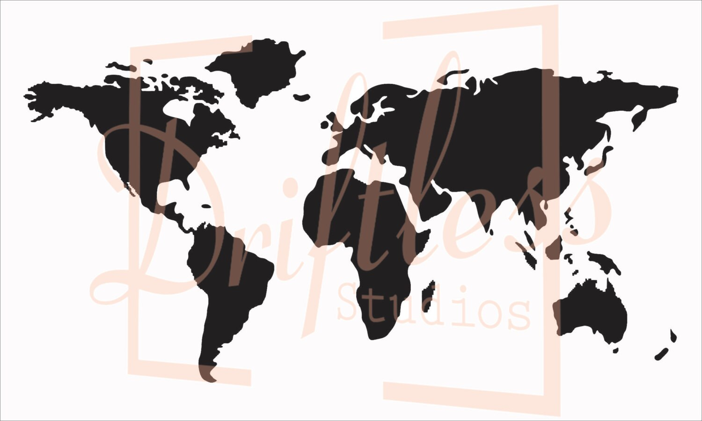 World map stencil stencil of world map map stencil world description world map stencil gumiabroncs Gallery