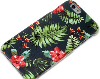 Dark Tropical Hawaiian  Phone Case iPhone 6, 7, SE, 6 Plus, 7 Plus, 6S, 5, 5C, 5S, Galaxy S6, S7, Note 5, Note 7