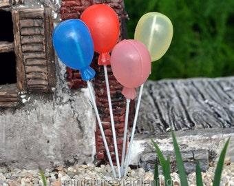 Balloon Bouquet for Miniature Garden, Fairy Garden