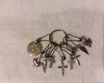 Stitch markers for knitting or crocheting