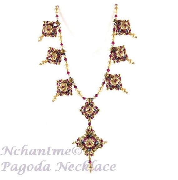 Pagoda Necklace Pattern for Instant Download