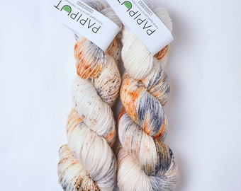 Hand Dyed Papiput Tough Sock Yarn - Sparklers
