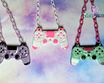 ps4 controllers necklace geeky,gamer, Soft Grunge, kawaii,soft grunge, lolita,harajuku,fairy kei,edm