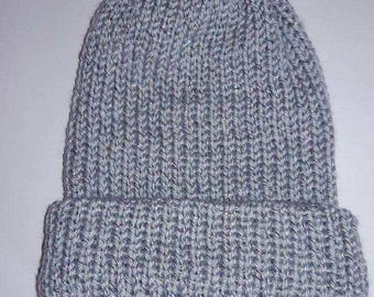 Silver Double Thick beanie.