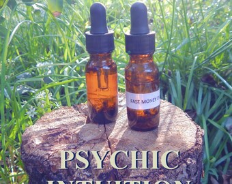 PSYCHIC INTUITION OIL 15ml - Intuition, psychic ability, astral travel for candles altar anointing - handmade with essential oils & herbs