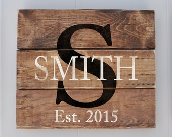 Wedding Gift, Personalized Family Name sign,  Anniversary Gift,  Last Name Sign, Bridal Shower Gift, Housewarming Gift, Home Decor