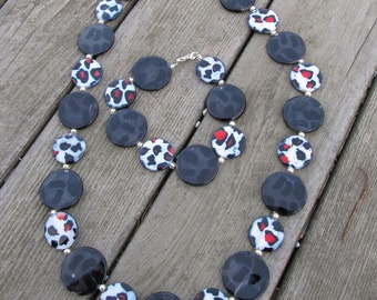 Cheetah Your Heart Out Necklace and Bracelet Set