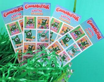 Gummibär (The Gummy Bear) Easter Greetings Planner Sticker Sheets ~ 4 Sheets ~ 40 Stickers