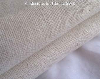 Natural Linen Fabric By The Yard, Off White Indian Flax Linen Fabric, Soft Linen Fabric For Clothing, Handwoven Linen Fabric, Eco Friendly