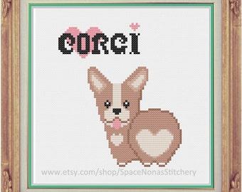 Corgi - Cross Stitch Pattern - Downloadable PDF