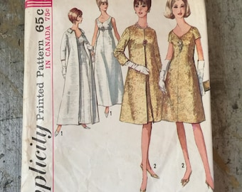 Vintage Simplicity Sewing Pattern 6219 Misses' Coat Dress Size 14