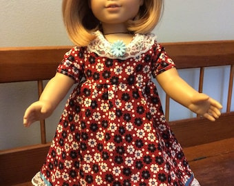 Floral dress made for an 18 inch dolls like American girl