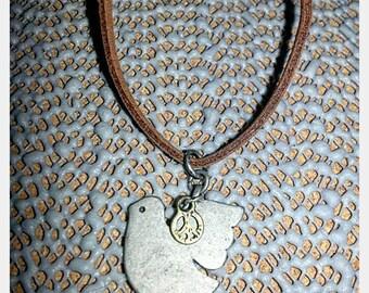 Peace dove faux leather