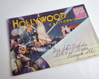 Vintage Hollywood Postcard Book