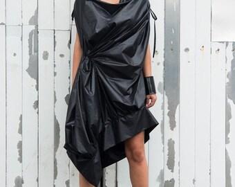 SALE Black Maxi Dress / Asymmetrical Black Top / Black Tunic Dress / Maxi Black Dress by METAMORPHOZA
