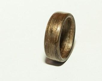 Walnut bentwood ring