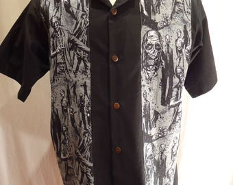 Zombie Panel Shirt, Made to Order In Your Size, Choose Men's small up to 4X