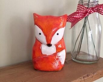 Ceramic Fox Decoration