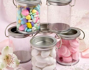 Paint Can Style Silver Wedding Favor Holders (Pack of 10) Favor Containers