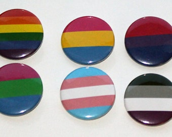 Pride Flags | 1.5 inch Buttons, Keychains or Magnets