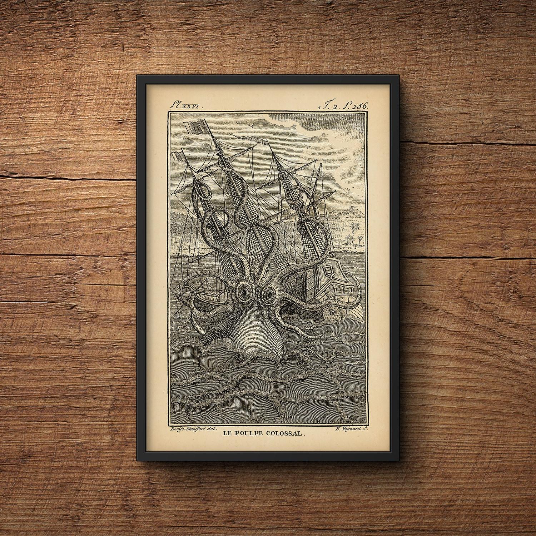 Oktopus Druck Octopus Poster großes Poster Riesenkrake