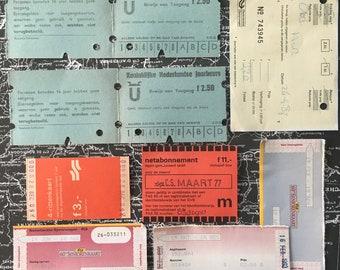 Dutch Railway & Bus tickets - Railwaytickets - TrainTicket, Vintage Train Ticket, Bustickets, original