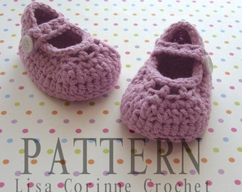 Crochet Baby Booties PATTERN, Crochet Baby Shoes, Crochet Booties Pattern, Infant Girl Shoes PATTERN, Baby Booties