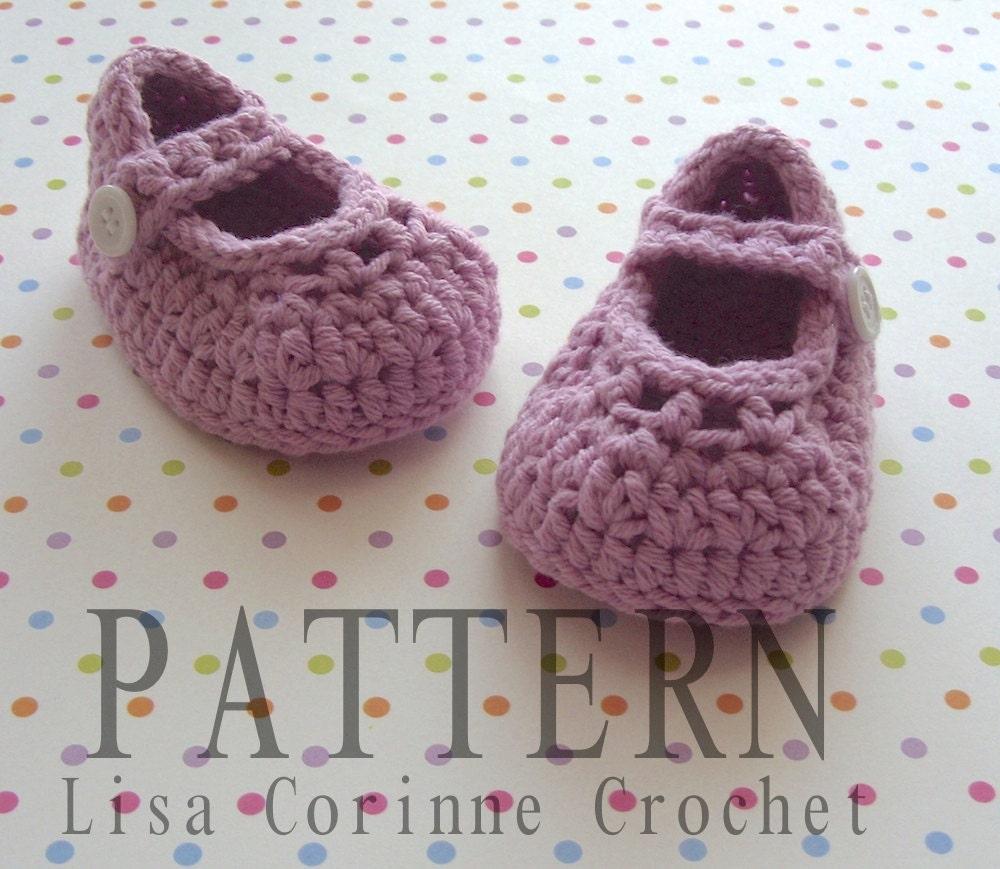 Crochet Baby Booties PATTERN Crochet Baby Shoes Crochet