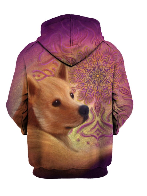 Trippy Mandala Doge Artwork Pullover - Psychedelic Hoodie - Meme Art - Dog and Puppy Clothing - Festival Wear SgtYVUJt3t