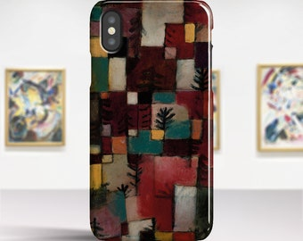"""Paul Klee """"Redgreen and Violet-Yellow Rhythms"""" iPhone X case iPhone 6 Plus case iPhone 8 case Phone case for iPhone X 8 7 6 etc. PC-PKL-05"""