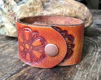 repurposed leather bracelet