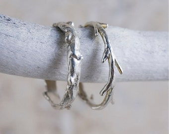Silver Oak Branch Ring | Stacking Ring | Nature Inspired Ring