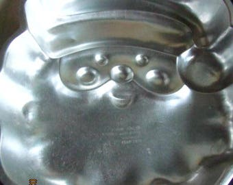 Wilton 1991 vintage santa claus cake pan aluminum