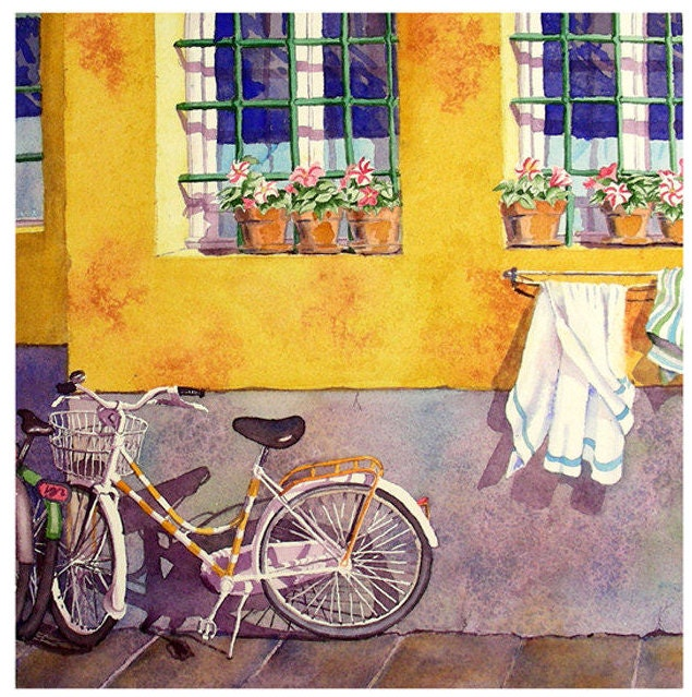 Bicycle Art, Bike Art Print, Road Trip, Print Sale, Bicycle, Wall ...