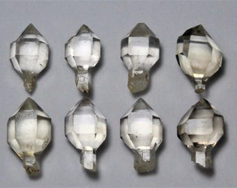 8 Pcs Top Quality Herkimer Diamond Crystal Quartz Single-end Specimen