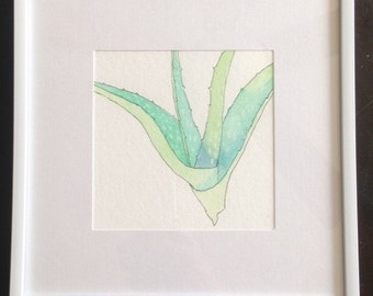 Aloe Watercolor