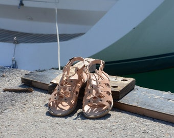 "Greek Leather Sandals ""eleanor"" code #155"