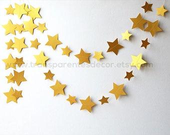 Gold star garland, Twinkle twinkle little star baby shower, Gold Wedding garland, Gold garland, Wedding decorations, Star garland