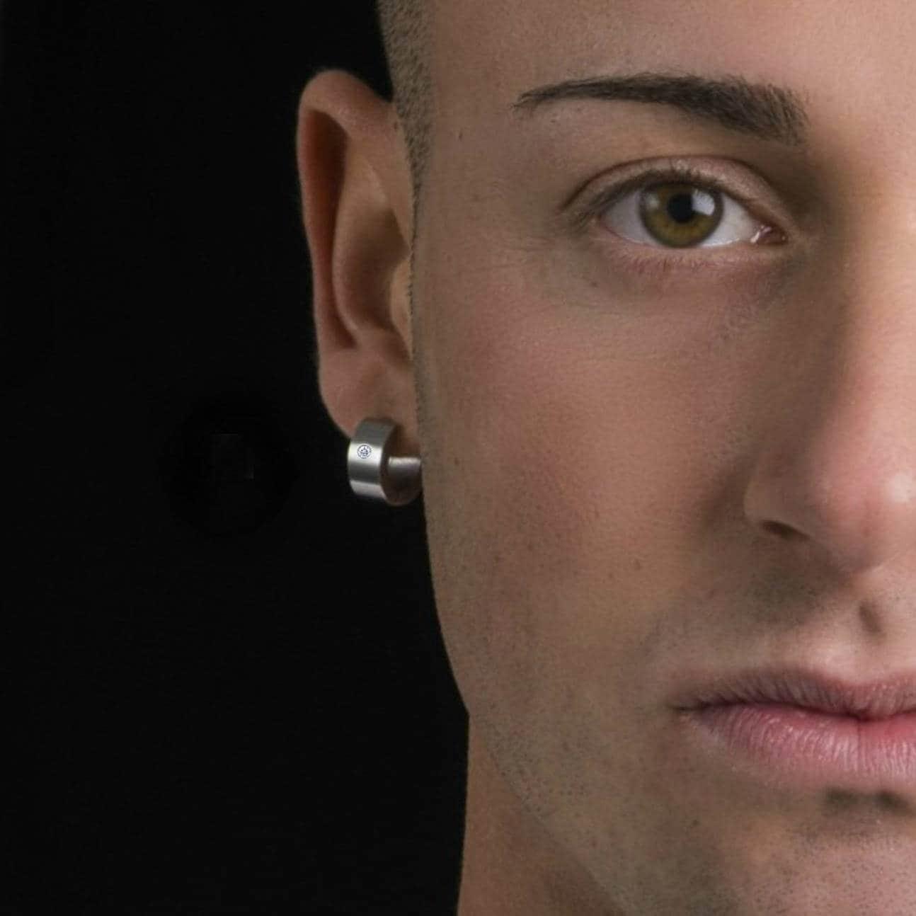 Men\'s thick hoop earrings diamond hoop earrings