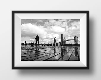 London photography, street photography, London prints,  fine art photography, black and white, Tower Bridge prints, Tower Bridge