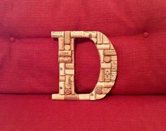 Custom Rustic Cork Letter A-Z