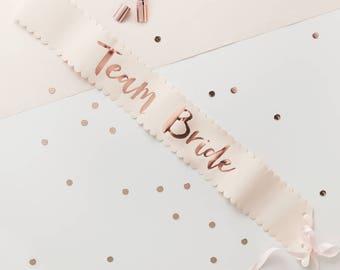 Pink & Rose Gold Team Bride Sash Pack
