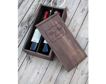 Wood double Wine box Tea box double wedding wine box wedding double wine double box wedding gift Wine accessories Gifts For The Couple