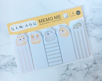 Hamster Sticky Bookmarks - Hamsters Sticky Bookmarks - Hamsters Sticky Bookmarks