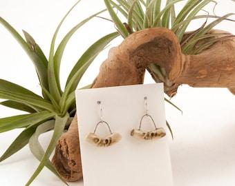 Handmade Ceramic Earrings, Dangles, Contemporary Ceramic, Topographic