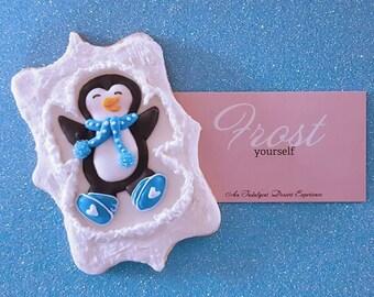 Christmas Cookies Penguin Snow Angels~1 Dozen~Frost Yourself Cookies