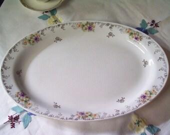 Ironstone Violet/Pansy trimmed Platter
