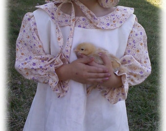 Pioneer Dress and Apron Pattern (CHILD SIZE) with FREE Video Tutorial